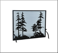 Tall Pines Flat Fireplace Screens