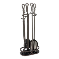 5 Piece Iron Gate Fireplace Tool Set