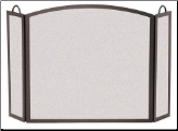 3 Panel Full Arch Fireplace Screen (SKU: 1820)