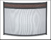 Basket Weave Bowed Fireplace Screen (SKU: 18349)