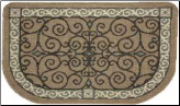 Textured Weave Eastly Scroll Rug (SKU: 19637)