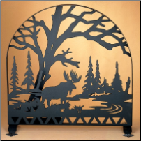 "Moose Creek Arched Fireplace Screen 30""W X 30""H"