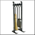 4 Piece Country Home Fireplace Tool Set (SKU: EN-FPTS2)