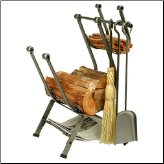 Front Loading Log Rack with Tools (SKU: EN-LR14)