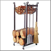 Sling Log Rack with Fireplace Tools (SKU: EN-LR2T)