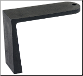 Andiron Support and Log Rest in Two Lengths (SKU: A-1533)