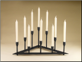 Ten Candle Black Candelabra (SKU: 304145)