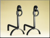 Hitching Post Black Fireplace Andirons (SKU: 800505)