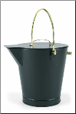 Black Ash Bucket with Brass Handles (SKU: ASH-02)