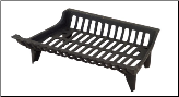 Zero Clearance Cast Iron Fireplace Log Grate (SKU: C-1899)