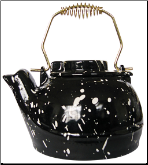2.5 QUART PORCELAIN COATED KETTLE-BLACK (SKU: C-192)
