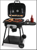 DELUXE OUTDOOR CHARCOAL BARBECUE GRILL No cover available (SKU: CBC1232)