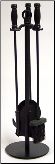 4 Piece Uniflame Black Wrought Iron Small Fireplace Tools  (SKU: F-1048)