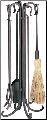 5 Piece Uniflame Heavy Weight Bronze Rustic Fireplace Tools (SKU: F-1648)