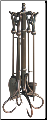 5 Piece Venetian Bronze Fireplace Tool Set (SKU: F-1657)