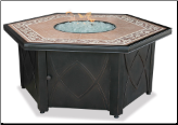 Uniflame LP Gas Outdoor Fireplace w/Slate Mantel (SKU: GAD1380SP)