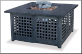 Uniflame LP Gas Outdoor Fireplace w/Tile Mantel (SKU: GAD920SP)