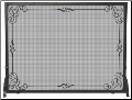 Single Panel Black Wrought Iron Fireplace Screen with Decorative Scroll (SKU: S-1025)