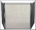 3 Fold Oversized Fireplace Stove Screen (SKU: S-1519)
