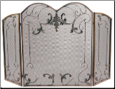 3 Fold Venetian Bronze Fireplace Screen (SKU: S-1645)