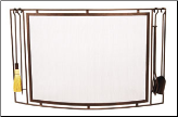 Town & Country Curved Fireplace Screen (SKU: S-6)