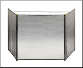 Black Three-Fold Child-Guard Fireplace Screen (SKU: SCR-1)