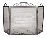 Scroll Three-Fold Fireplace Screen (SKU: SSS-01)