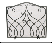 Williamsburg Cypher Flat Fireplace Screen
