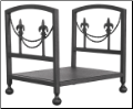 Olde World Iron Fleur-de-lis Log Rack (SKU: W-1456)