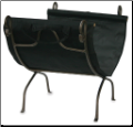 Bronze Wrought Iron Log Rack With Canvas Carrier (SKU: W-1617)