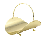 "19"" Polished Brass Wood Basket (SKU: W-2621)"