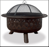 Uniflame Oil Rubbed Bronze Outdoor Patio Fire Pit (SKU: WAD792SP)