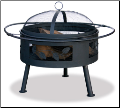 Uniflame Aged Bronze Outdoor Fireplace w/Leaf Design (SKU: WAD992SP)