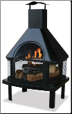Uniflame Black Powder Coat Steel Firehouse (SKU: WAF1013C)
