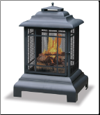 Uniflame Black Outdoor Fireplace (SKU: WAF501CS)