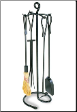 Shepherd's Hook Fireplace Tool Set (SKU: WR-09)