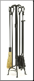 Country Classic Fireplace Tool Set (SKU: WR-28)