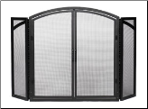 Arched Fireplace Screen With Doors