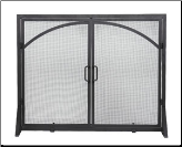 Fireplace Screen with Arched Doors (SKU: 800280)