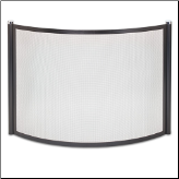 Bowed Metro Fireplace Screen (SKU: 18345)