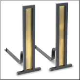 Grand Tower Fireplace Andirons (SKU: 1867)